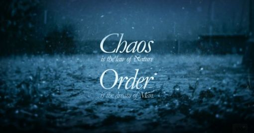 Chaos is the Law of Nature; Order is the Dream of Man