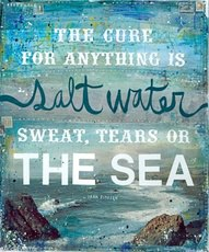 The cure for anything is salt water - Sweat, Tears or the Sea