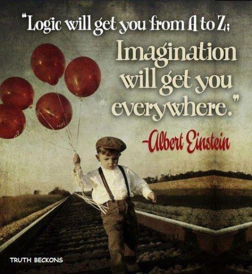 """""""Logic will get you from A to Z.  Imagination will get you everywhere"""" - Albert Einstein"""