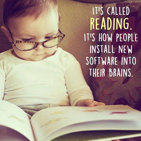 It's called reading - It's how people install new software into their brains
