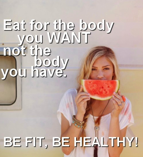 Eat for the body you want not the body you have - Be Fit - Be Healthy